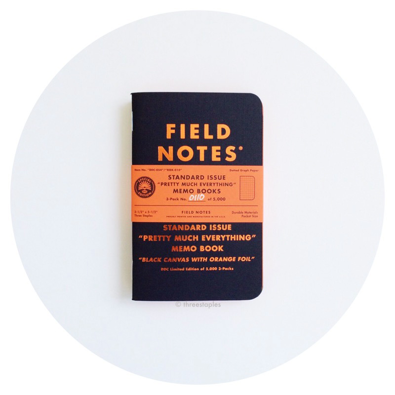 "Field Notes: DDC Standard Issue ""Pretty Much Everything"" (2016)"