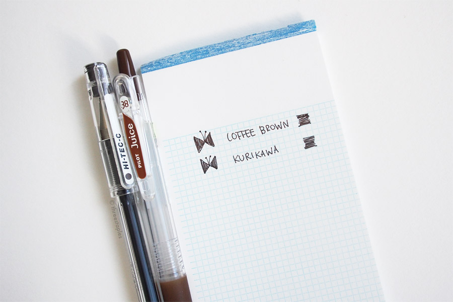 More testing on the lovely  Le Typographe mini memo pad .