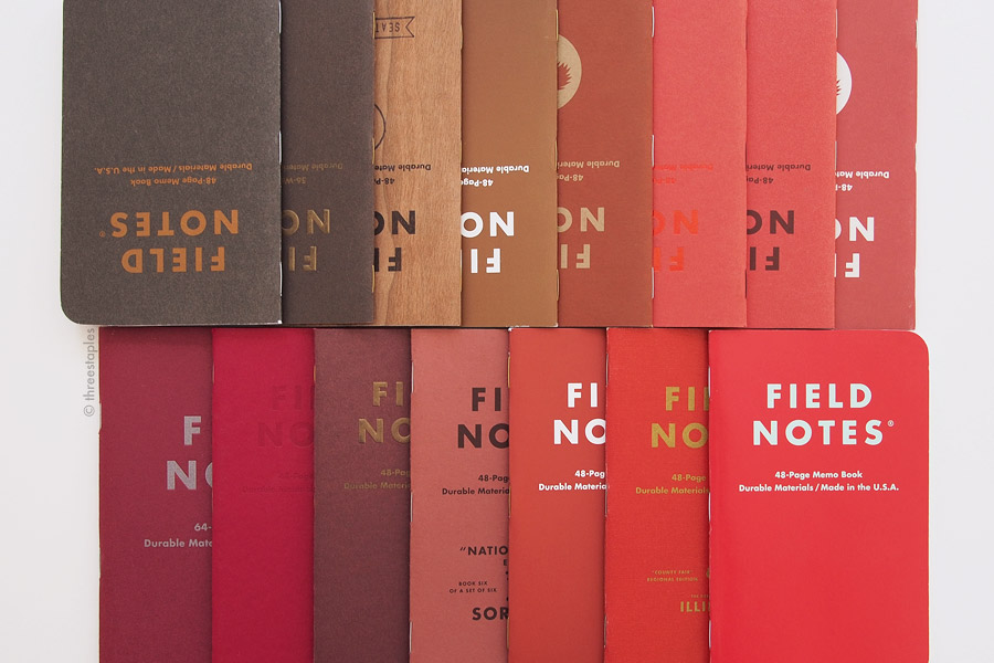 "Top row (from left): Nixon (2015),  Ambition , Cherry Graph,  Drink Local  ""Bock"", Tournament of Books (2016),  Sweet Tooth , Mackinaw Autumn, and Tournament of Books (2015). Bottom row (from left):  Arts & Sciences ,  Red Blooded ,  Ambition ,  National Crop  ""Sorghum"",  Drink Local  ""Amber Ale"",  County Fair , and Starbucks Reserve Coffee Origins ""Africa""."