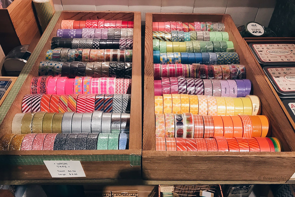 A very large selection  mt brand washi tapes . I don't know how I resisted but none of them came home with me.