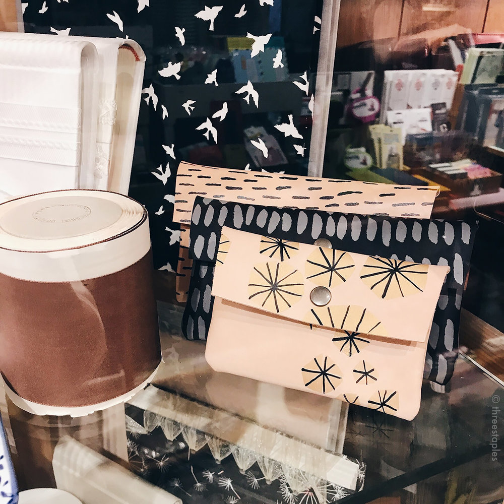 Hand-painted leather wallets by my favorite  Bookhou  (they're based in Toronto)