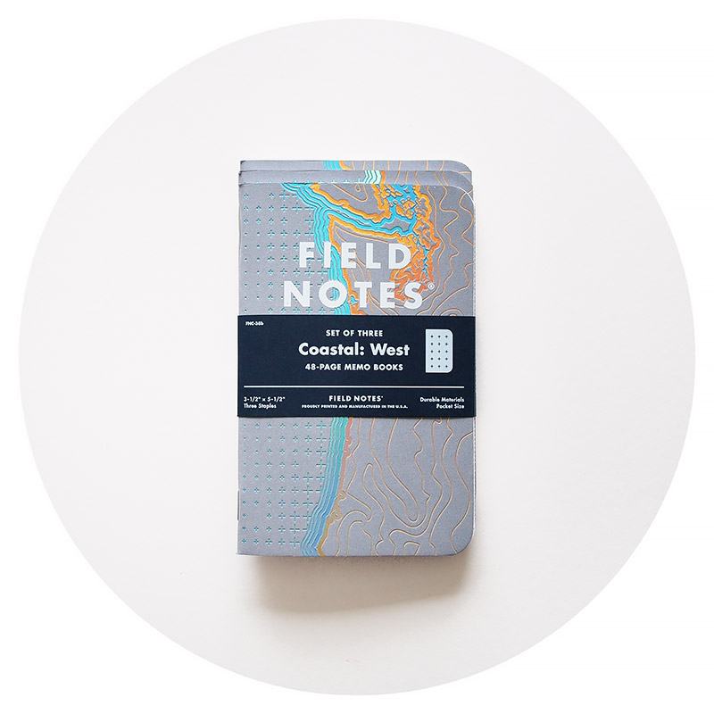 Field Notes Colors: Coastal: West (Spring 2018)