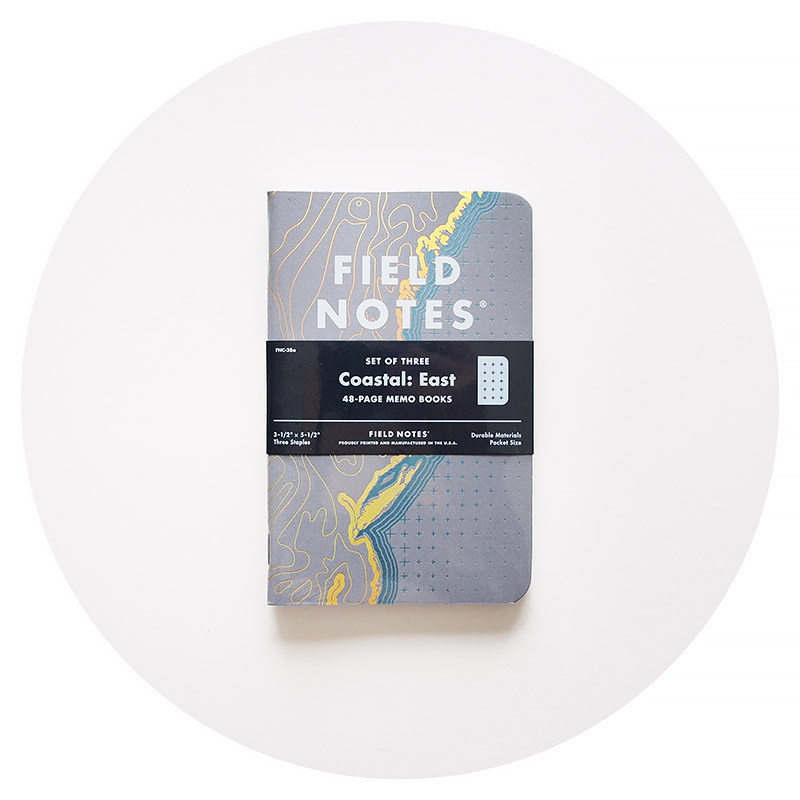 Field Notes Colors: Coastal: East (Spring 2018)