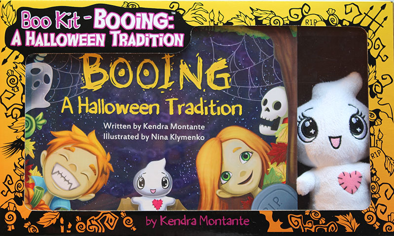 Boo Kit :  book,   toy and  box