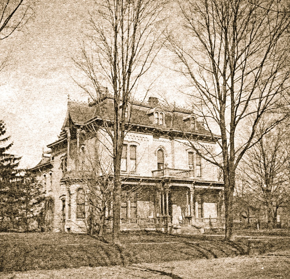 The Charles T. and Harriet Wing Mitchell home before it became the Mitchell Public Library and now the Mitchell Research Center