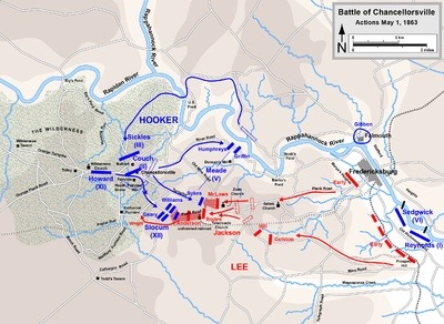 Troop movements during the Battle of Chancellorsville