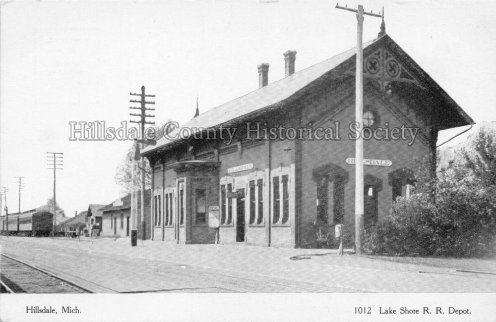 Lake Shore and michigan southern depot in hillsdale, mi
