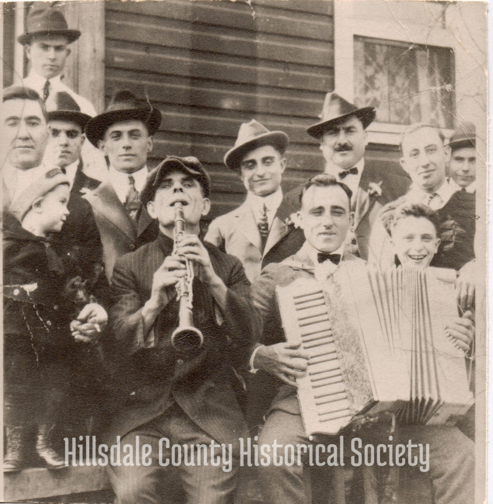 Joe Savarino, with the clarinet.