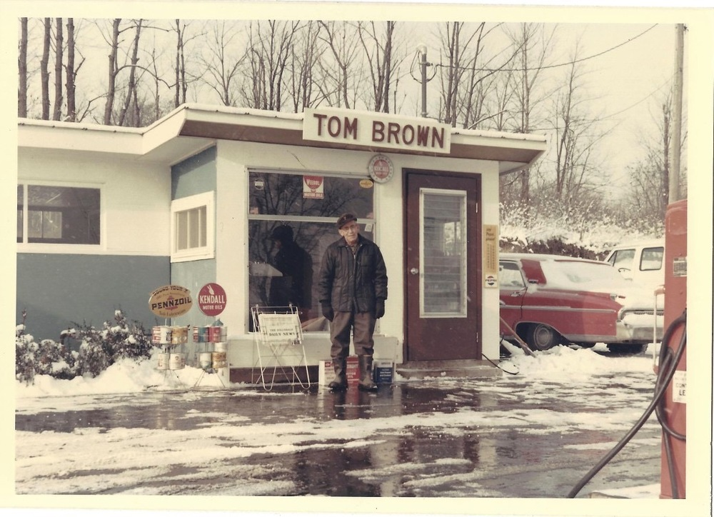 tom at his gas station