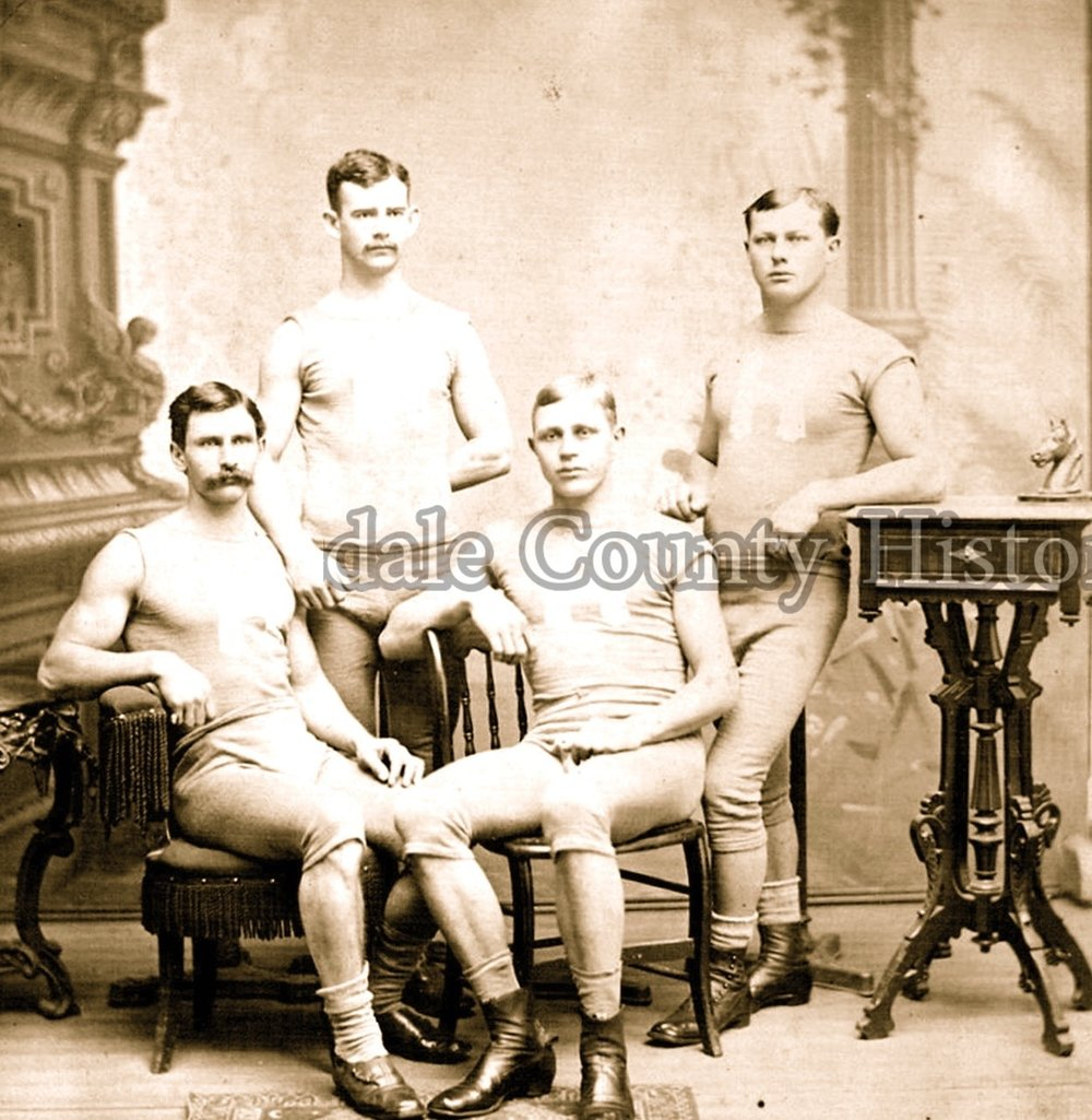 Capt. Benge is third from the left