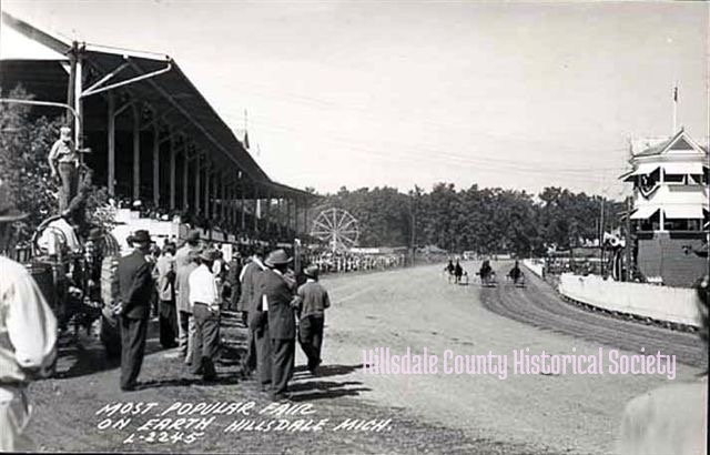 Harness racing at the fair, when it was still immensely popular