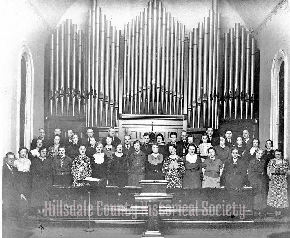 The First United methodist church choir - date unknown