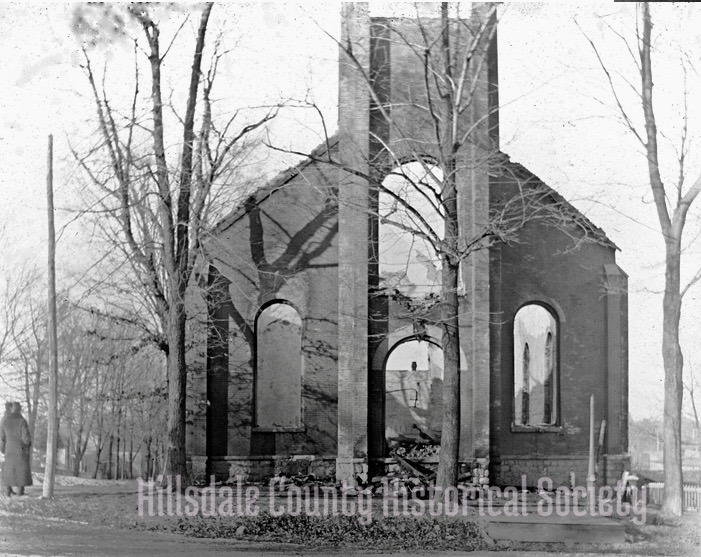 The Presbyterians went to work immediately, building a new edifice after the fire of 1899.