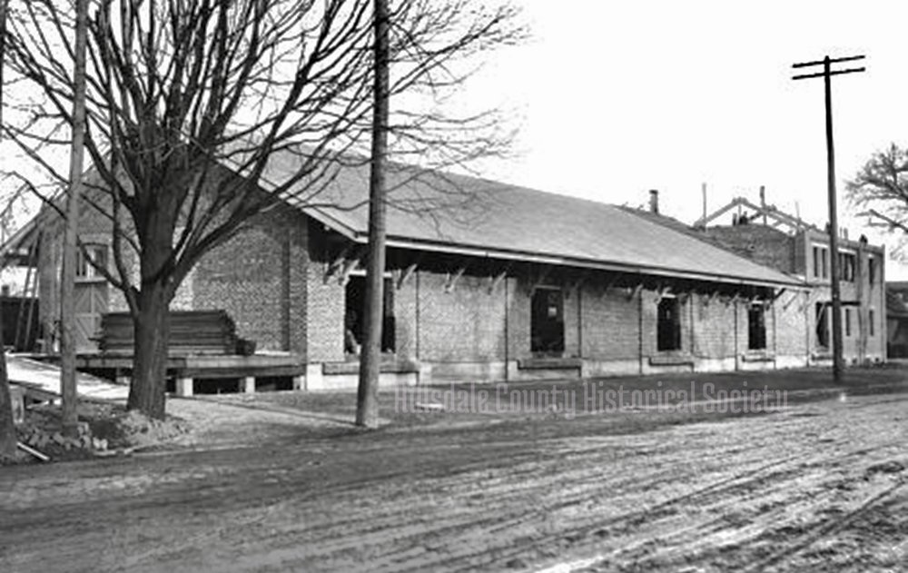 The Lake Shore and Michigan Southern Freight Station was built between 1885 and 1890. The building remains in partial use today.