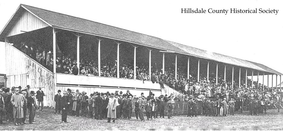 the fair horse races in 1913 were a huge attraction. today they no longer are run.