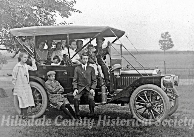 The seitz family of hillsdale with their new car