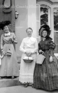 At the mitchell public library: from left, Pearl Jones, Orlis Wolf, Noma Wolf Hickok
