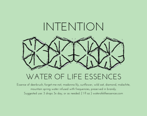 intention water of life essences