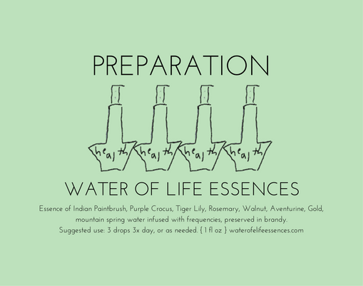 preparation water of life essences