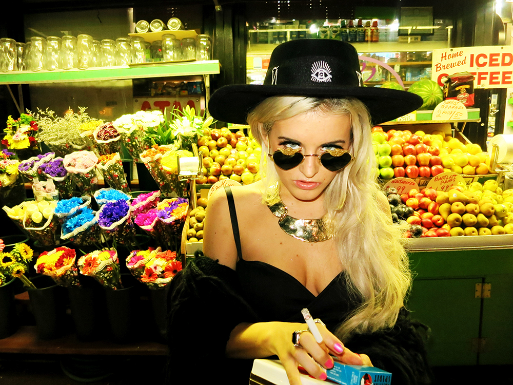 nylon - rachel lynch - fashion week - blogger - blonde - dolls kill - wildfox - nastygal