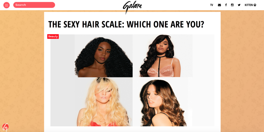GALORE - https://galoremag.com/sexy-hair-scale-one-fave/