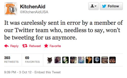 Kitchenaid Apology