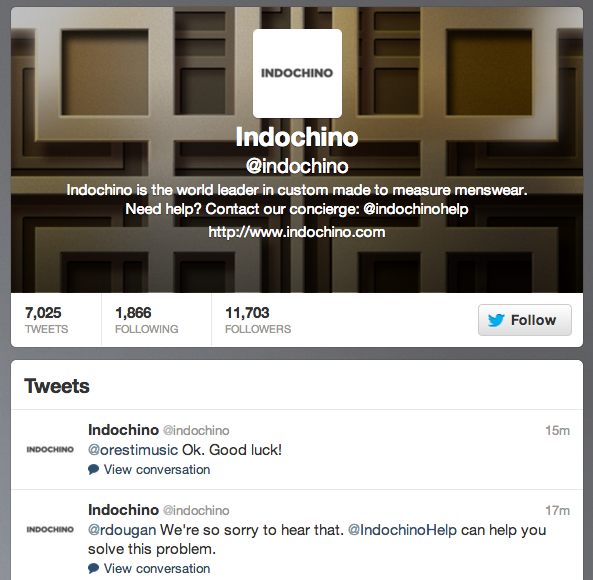 Indochino Twitter
