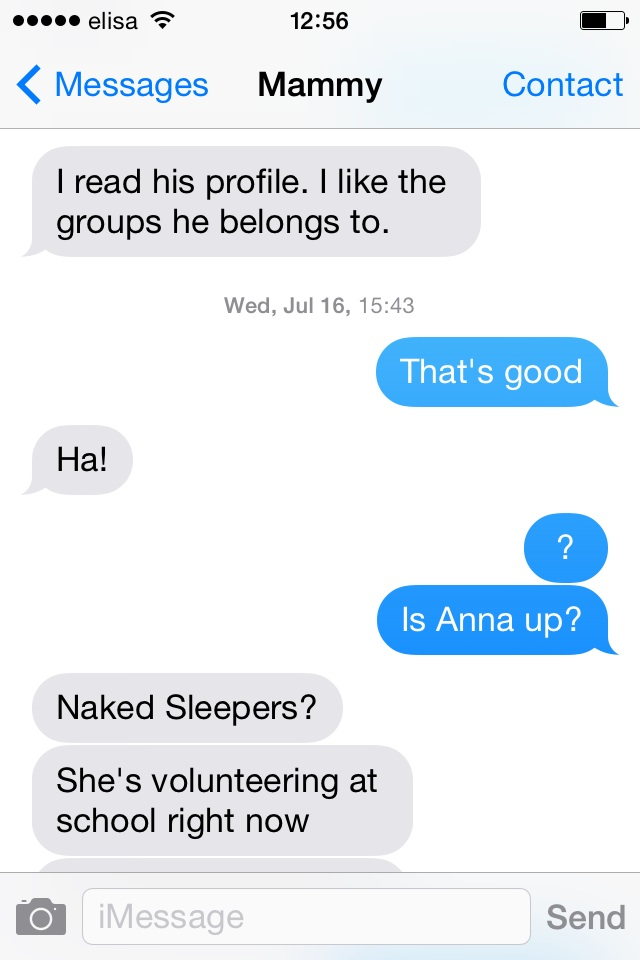 Very hard to distinguish between maternal sincerity and humor via text