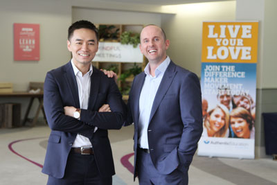 Cham Tang (L) & Benjamin J Harvey (R) Founders of Authentic Education