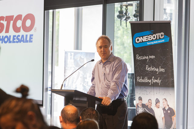 Key speaker, Patrick Noone, Costco Australia Managing Director at the annual FMCG Breakfast in 2012
