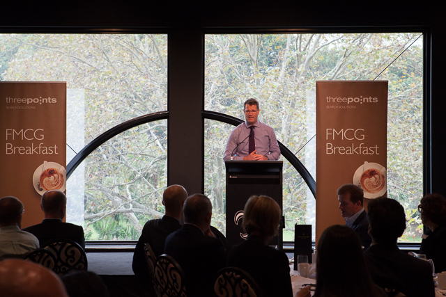 Grant O'Brien, Managing Director and CEO at Woolworths Limited speaking at the 2014 FMCG Breakfast.