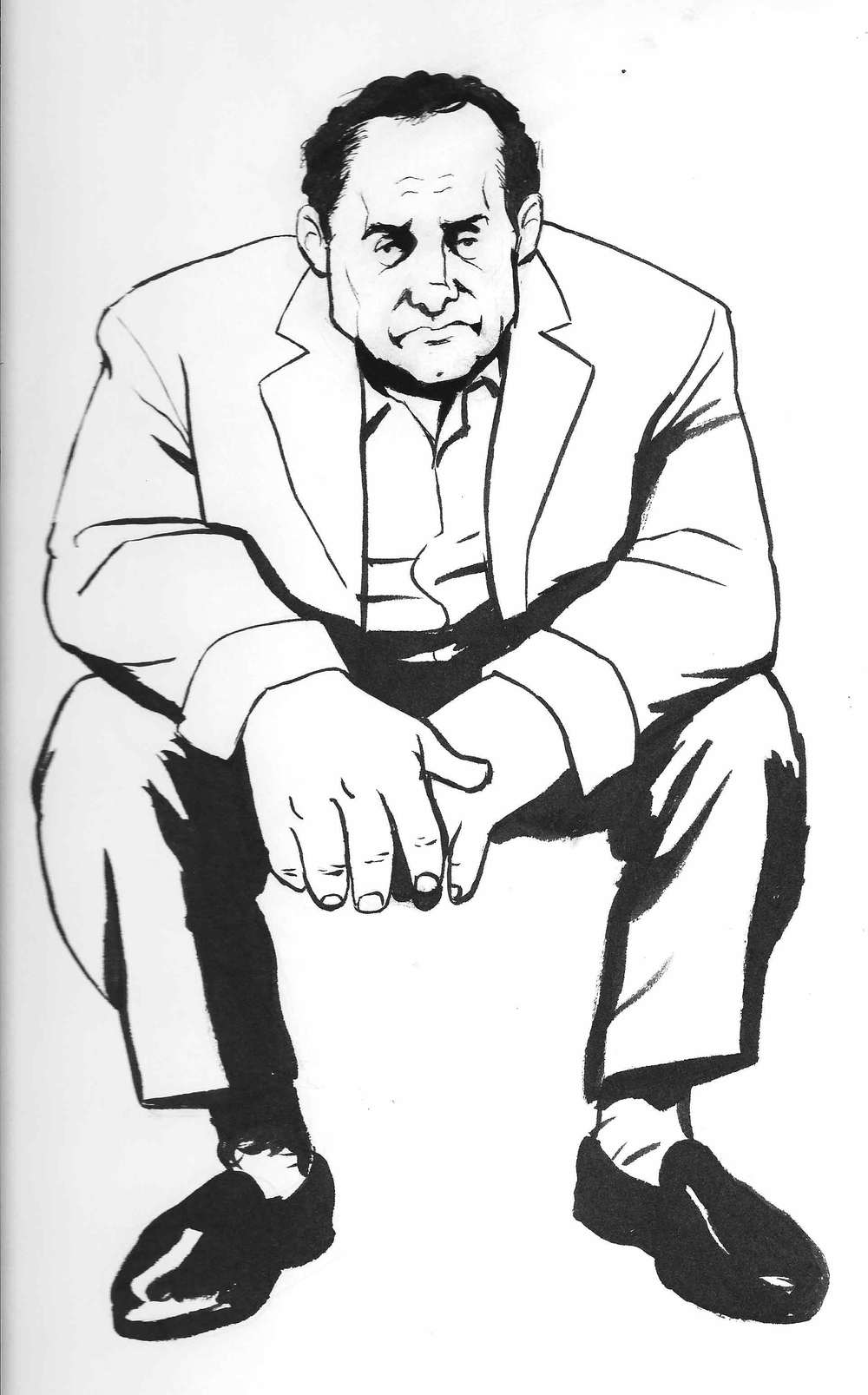 This sketch was based off a great photo of James Gandolfini from The Sopranos.