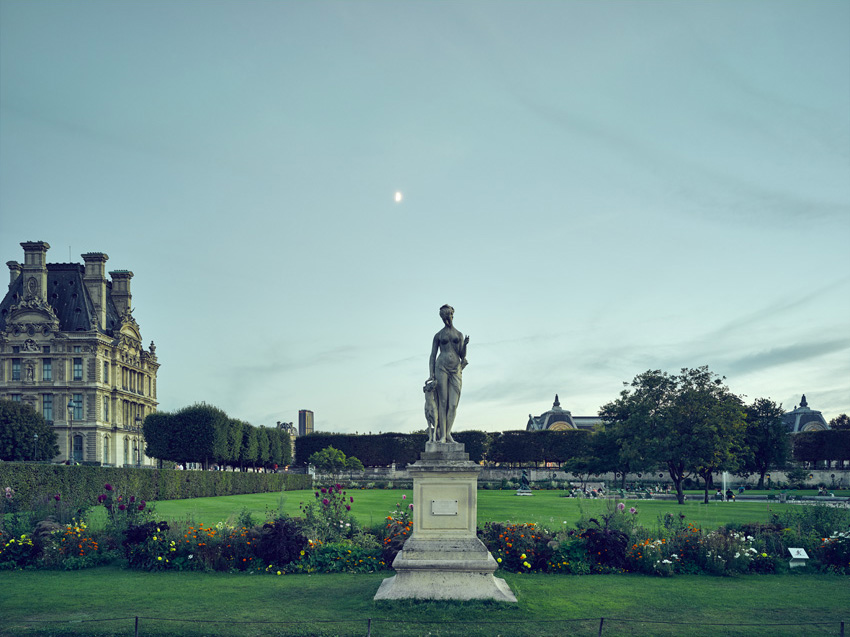Jardin de Tuileries, 2015 archival cotton rag paper, mounted on aluminium