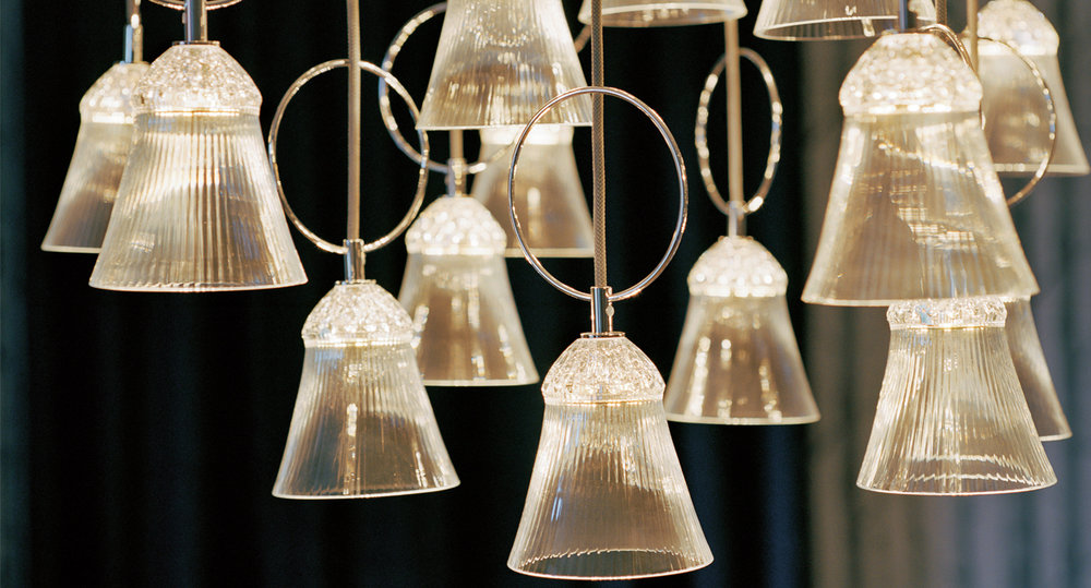 The Saint-Louis Crystal Apollo Pendant Light and family.