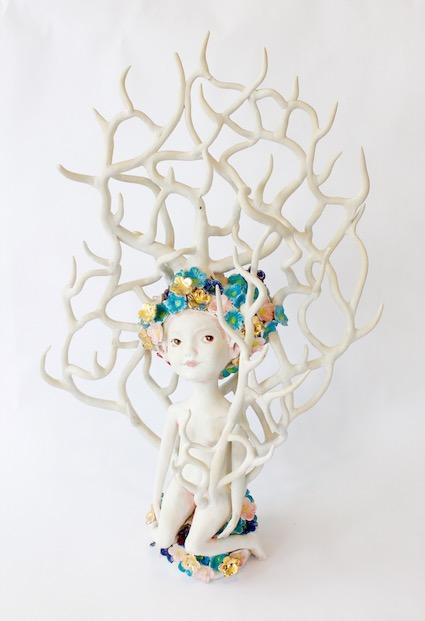 White Coral Wayfarer, 2017 Ceramic