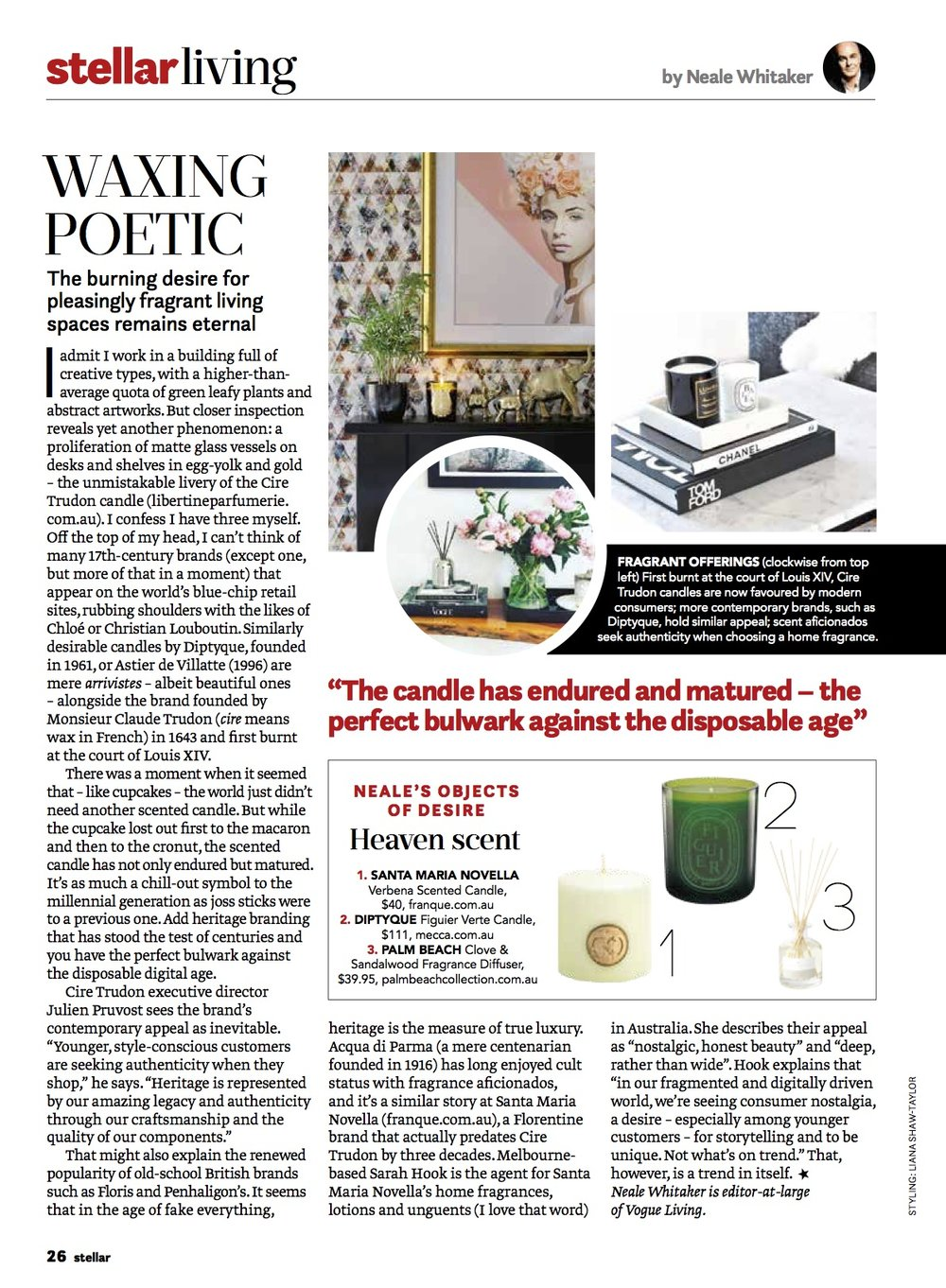 VOGUE LIVING REVIEW  Neale Whitaker
