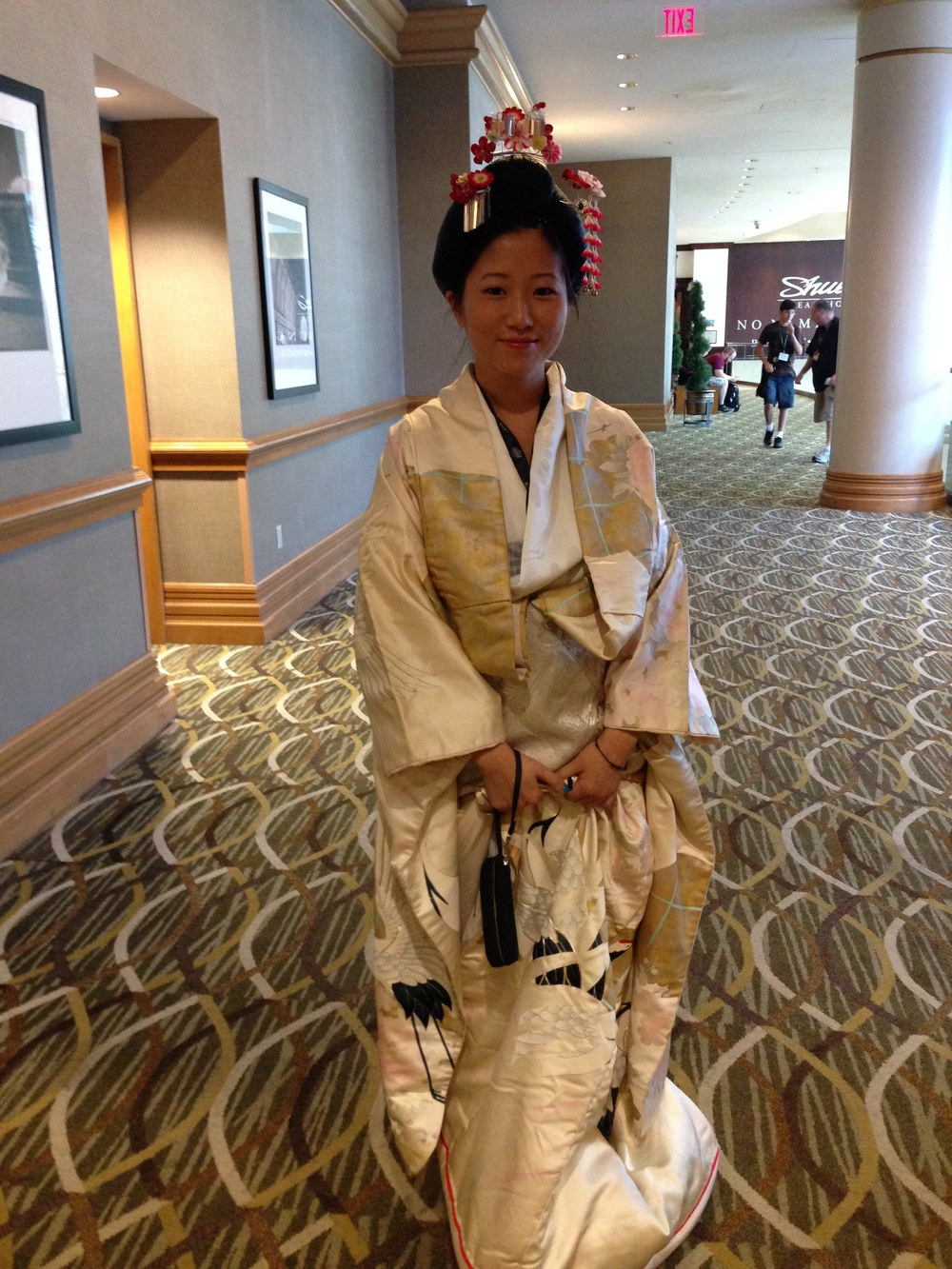 She did a fantastic job, the kimono looked great!