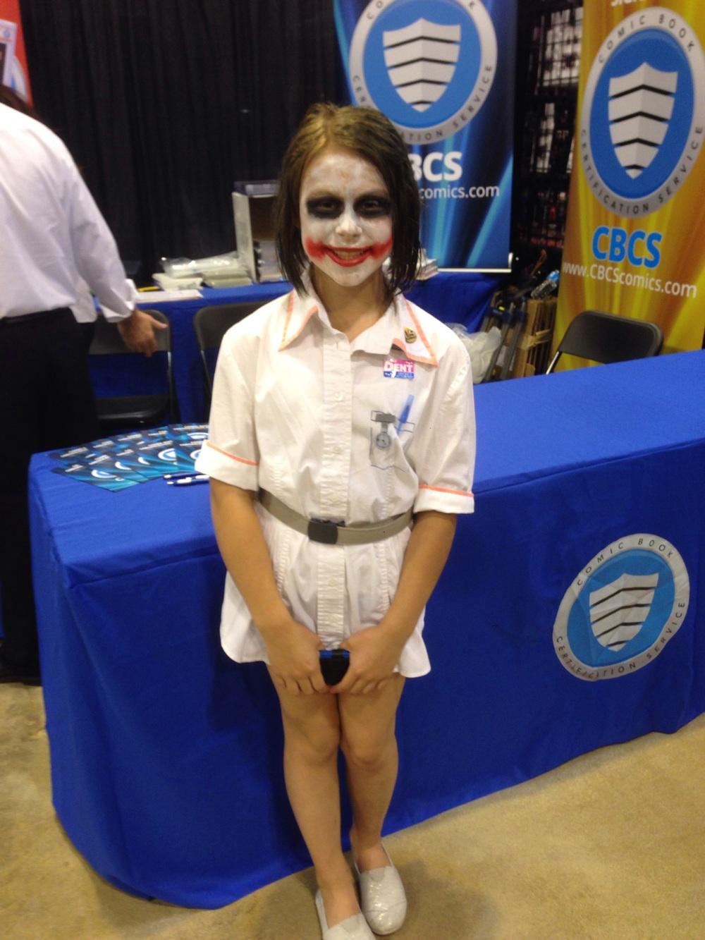 Cutest little Joker you ever saw.