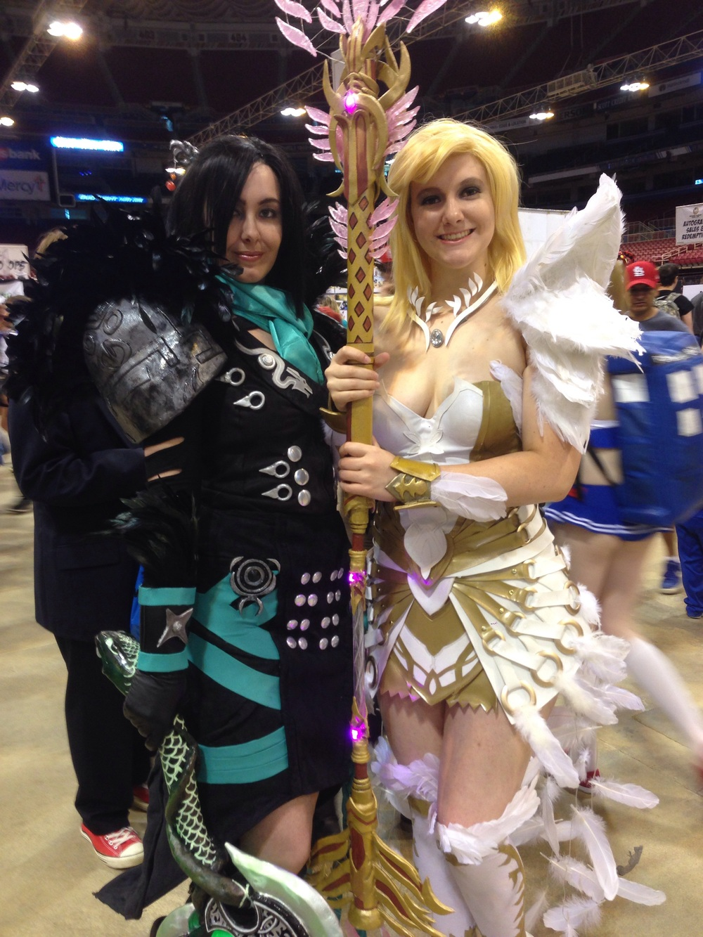 I tip my hat to these lovely ladies.  That's some complex armor.  Great work!