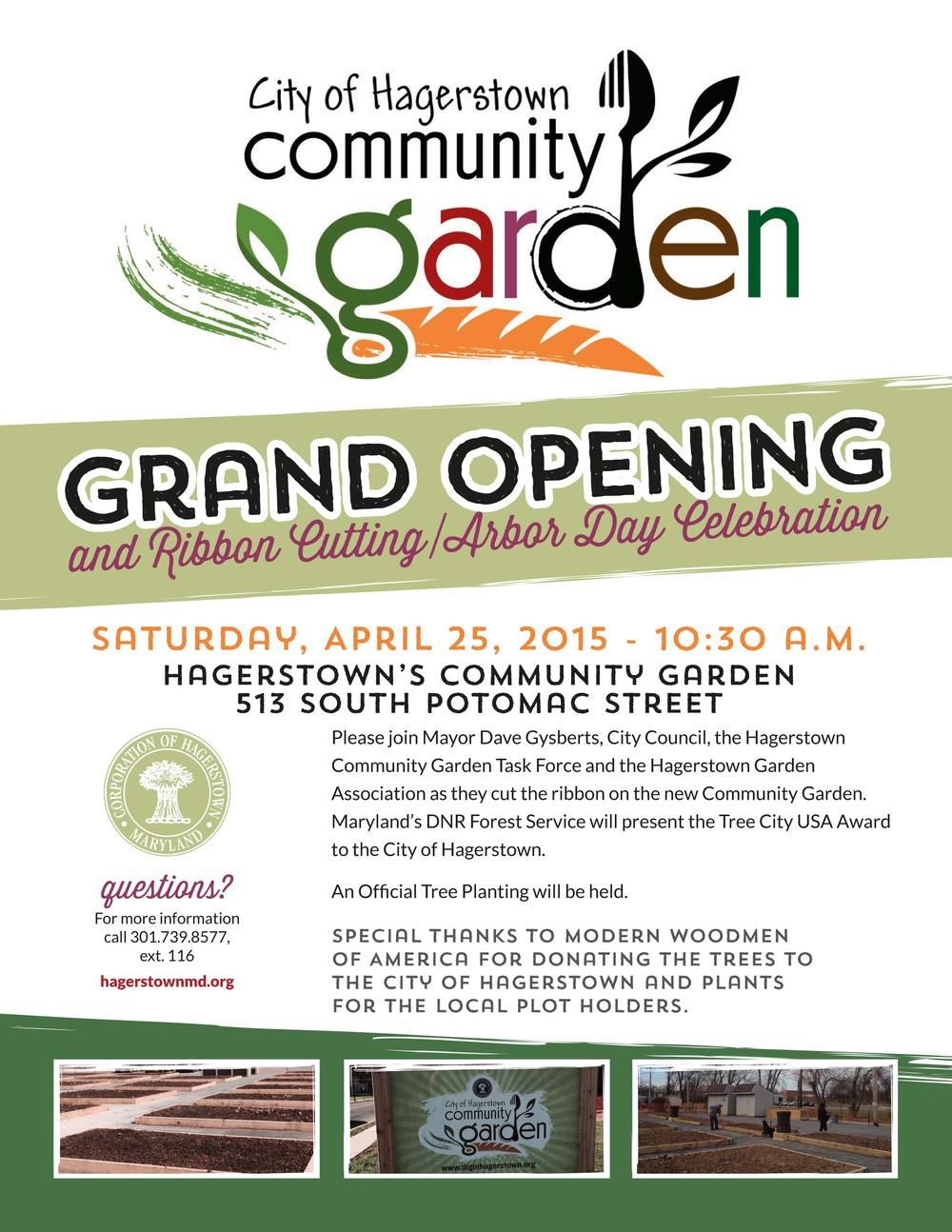 city of hagerstown community garden flyer camacho designs