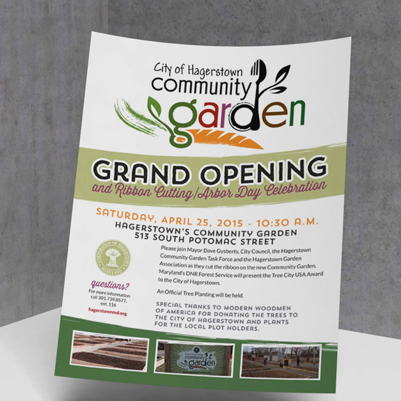 CITY OF HAGERSTOWN COMMUNITY GARDEN FLYER