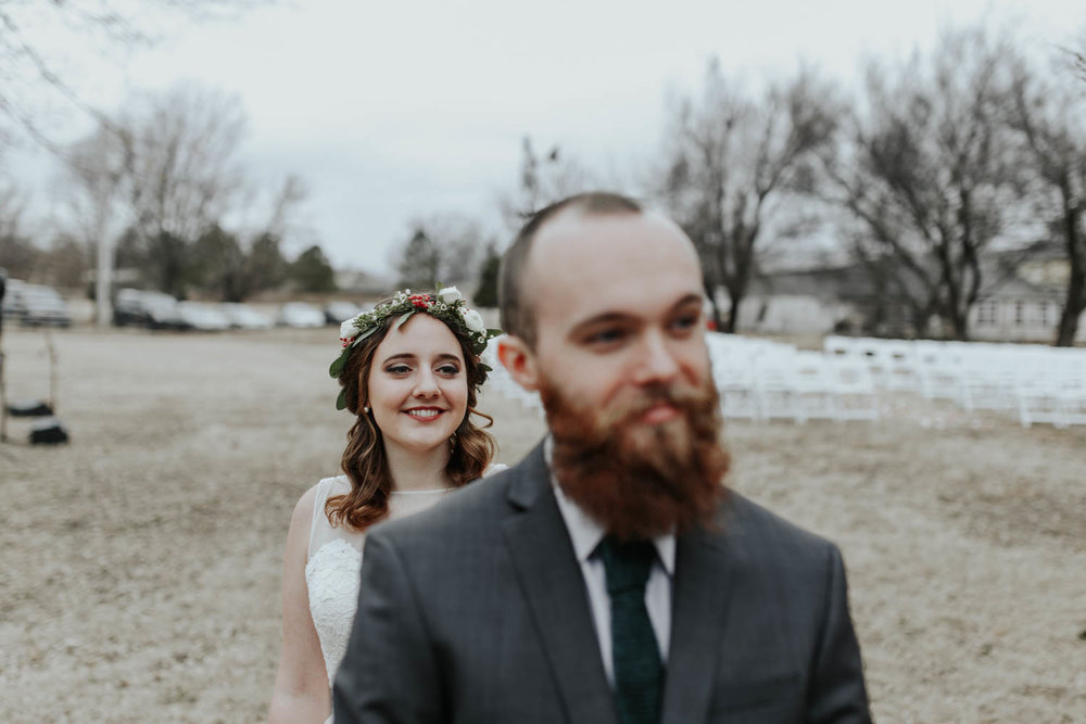 First Look Oklahoma Wedding