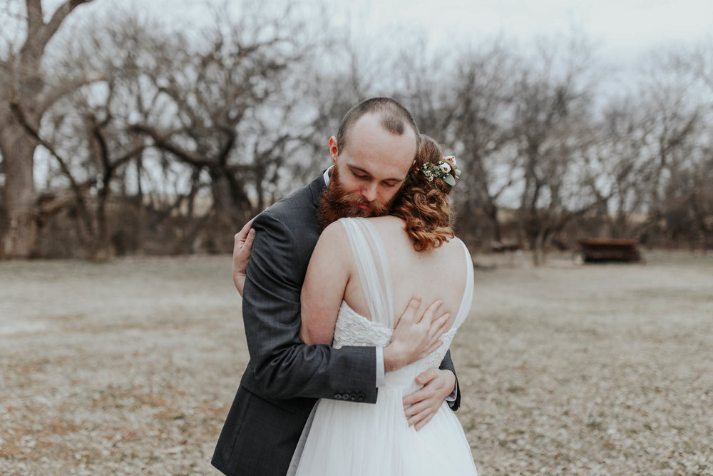 Outdoor Winter Wedding Oklahoma