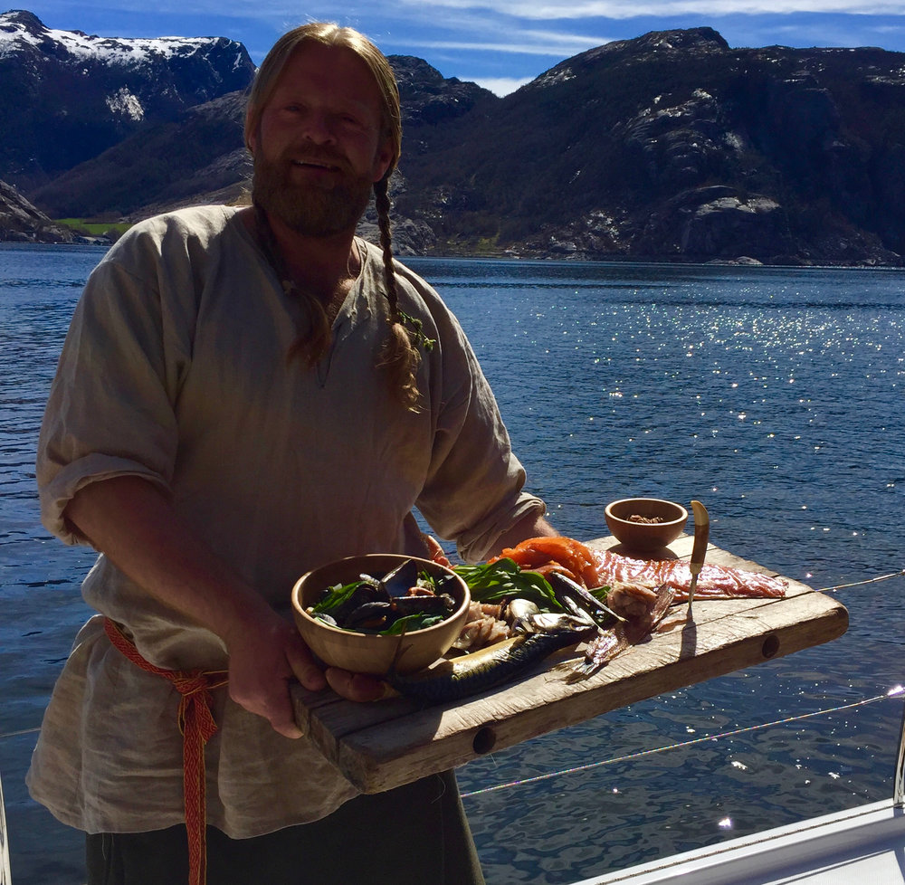 Real viking food served in real viking surroundings