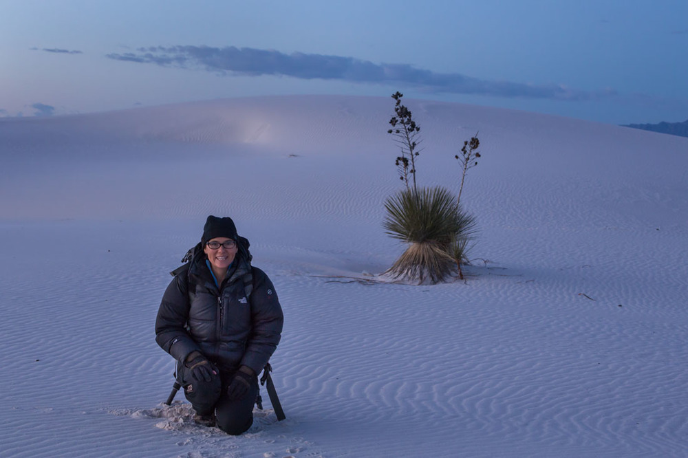 shooting at White Sands in the early morning