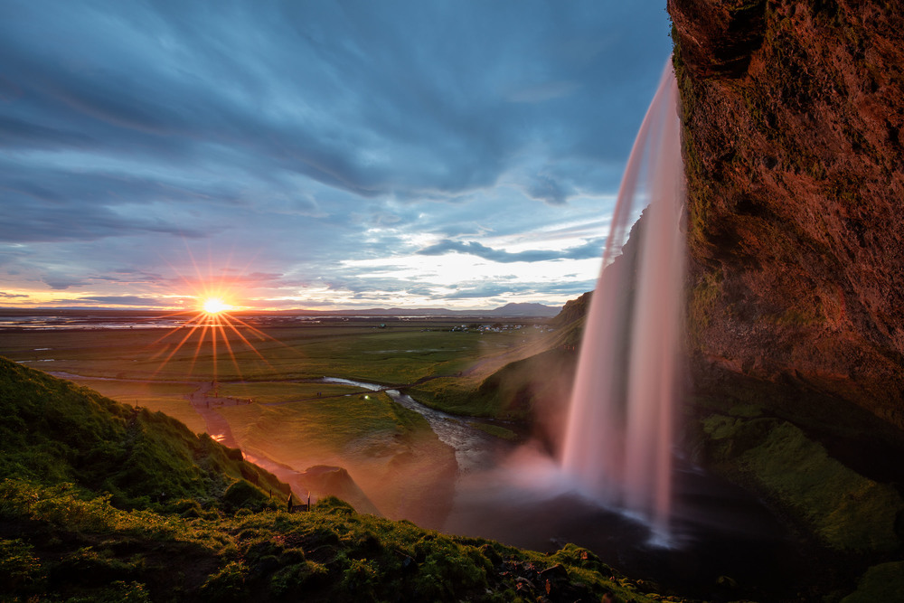 Seljalandsfoss waterfall in Iceland. Photographed at f/16, 3.2 seconds, ISO 100, EF16-35mm f/4L IS USM at 16mm, Canon EOS 5DS R