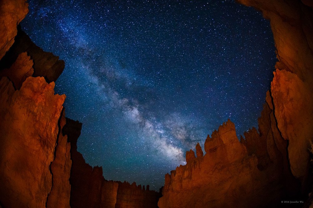Bryce Canyon, UT. Photographed at f/2.8, 25 seconds, ISO 6400, EF15mm f/2.8 Fisheye, Canon EOS 5D Mark III