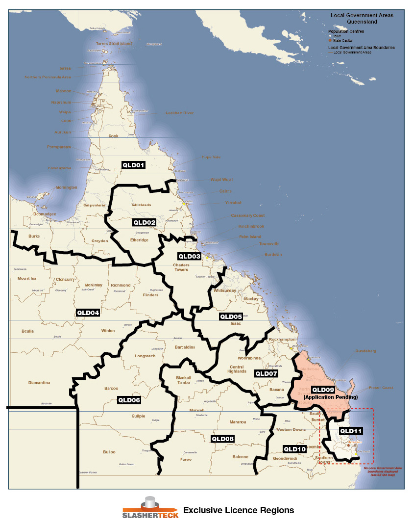 QLD Licence Regions