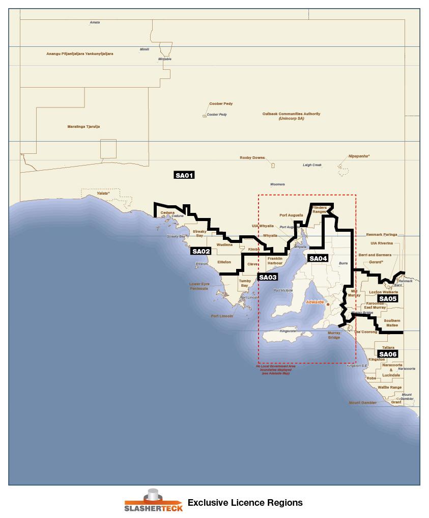 SA Licence Regions