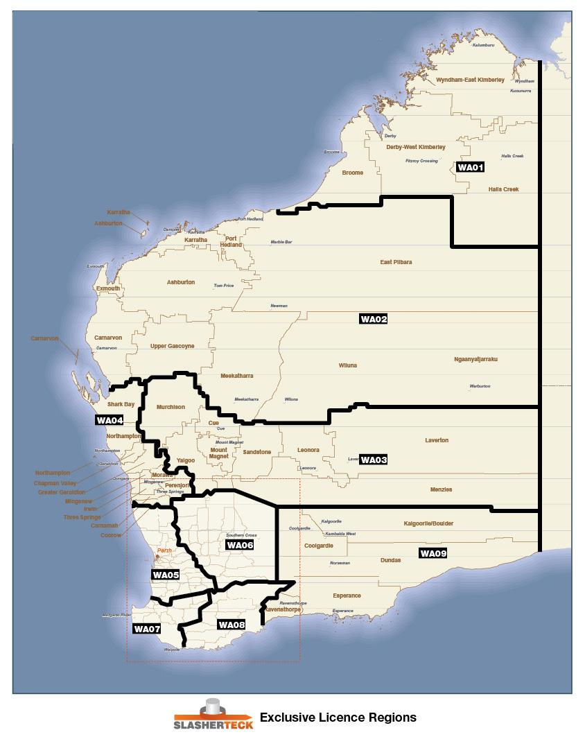 WA Licence Regions